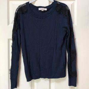 LOFT Lightweight Navy Sweater